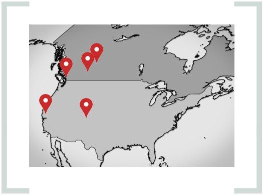 Westpower Equipment - map of locations