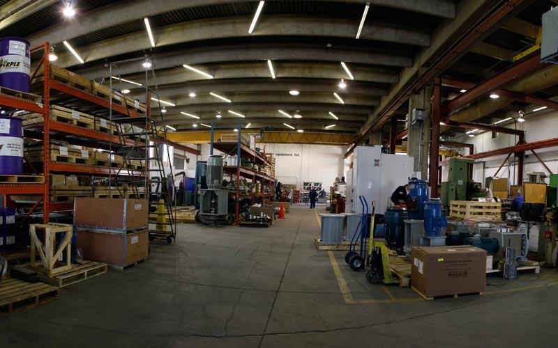 Westpower Pumps repair facility in Calgary Alberta