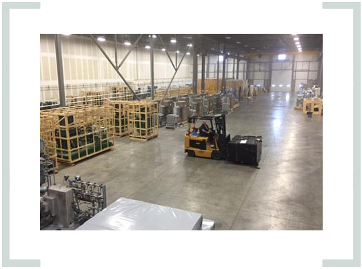 Westpower provides customized equipment warehousing services designed to preserve and protect rotating equipment requiring short or long term storage